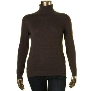 Private Label Womens Cashmere Heathered Turtleneck Sweater - XL
