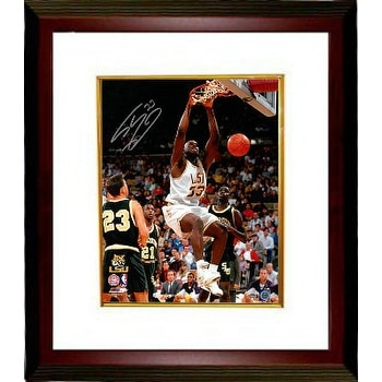 757bf4b2417 Shop Shaquille ONeal signed LSU Tigers 16x20 Photo Custom Framed 33 white  jersey dunk - Free Shipping Today - Overstock - 19868495