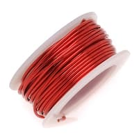 Artistic Wire, Copper Craft Wire 18 Gauge Thick, 4 Yard Spool, Permanent Red Color