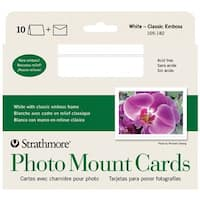 Strathmore - Photo Mount Cards - White - Classic Emboss,  100/Pkg.
