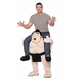 Piggyback Shoulder Riding Adult Costume: Sumo Wrestler - TAN