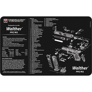 Tekmat 17walppqm2 tekmat armorers bench mat 11x17 walther ppqm2 pistol