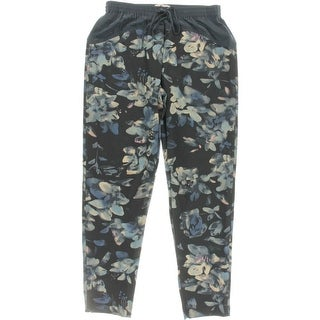 Rebecca Taylor Womens Silk Trim Floral Print Track Pants
