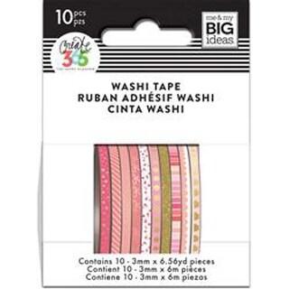 Pink Hues - Happy Planner Mini Washi Tape 3Mmx6.56Yd Each 10/Pkg