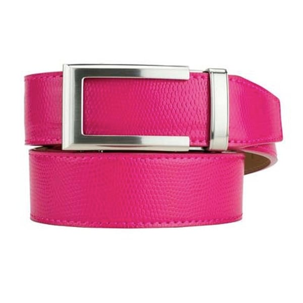 Nexbelt Ladies Classic Series Camden Pink Leather Strap Dress Belt
