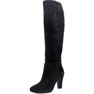 Jessica Simpson Ference Women Round Toe Suede Black Knee High Boot