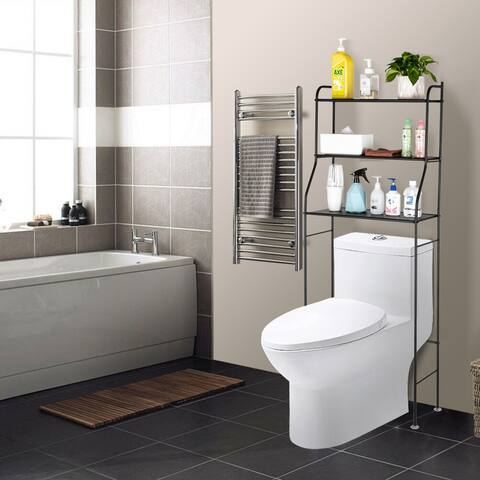 Bathroom Space Saver Over The Toilet Rack Shelf Corner Stand Storage Organizer
