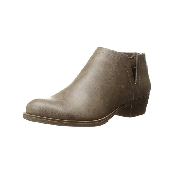 Sugar Womens Tessa Ankle Boots Faux Leather Stacked Heel