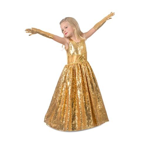 Girls Golden Gala Showstopper Movie Star Costume