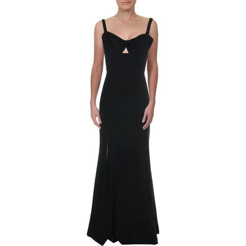Dress The Population Womens Brooke Evening Dress Twist Front Sleeveless - Black