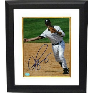 Alex Rodriguez signed New York Yankees 8x10 Photo Custom Framed (full sig)- Rodriguez & BAS-Beckett Holograms