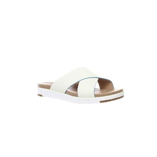 53a69d30470 Shop UGG Womens Kari White Slides Size 7 - Free Shipping Today ...
