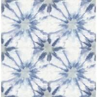 Brewster 1014-001857 Iris Indigo Shibori Wallpaper
