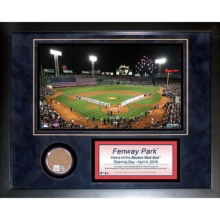 Fenway Park Opening Day 11x14 Mini Dirt Collage