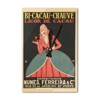 Bi - Cacau - Chauve (Macedo) Vintage Ad (Acrylic Wall Clock) - acrylic wall clock