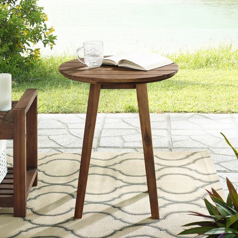20-inch Round Acacia Outdoor Side Table by Havenside Home