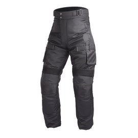 Motorcycle Textile Waterproof Riding Pants Black with Removable CE Armor PT2