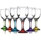 Carnival Color  Wine Glass 10 OZ Set of 6 10 OZ