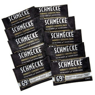 Schmécké 69% RH Cigar Two-Way Humidity Control 10 Grams x 10 Pack - Zero Guesswork - Regulate & Stabilize Humidor RH Level