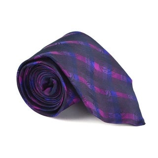 Etro Mens Purple 100% Silk Multiple Classy Print 3.25 In Standard Tie - One size