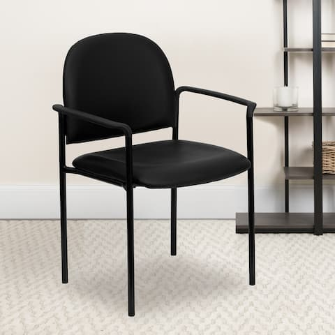 Comfort Stackable Steel Side Reception Chair with Arms