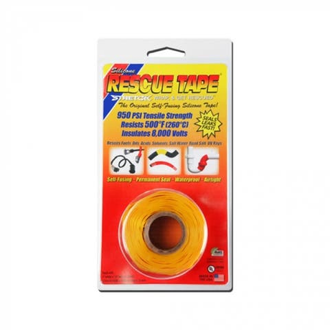 "Rescue Tape RT1000201205USC Self-Fusing Silicone Tape, 1"" x 12', Yellow"