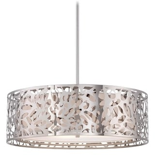 Kovacs P7986-077 4 Light Drum Pendant from the Layover Collection