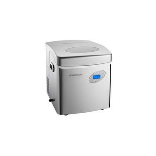 """EdgeStar IP250  17"""" Wide 2.6 Lbs. Capacity Portable Ice Maker with 48 Lbs. Daily Ice Production - Stainless Steel"""