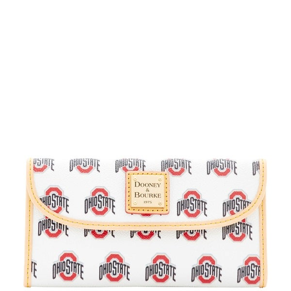 Dooney & Bourke NCAA Ohio State Continental Clutch (Introduced by Dooney & Bourke at $128 in Mar 2016) - White
