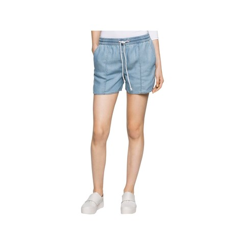 Calvin Klein Jeans Womens Denim Shorts Tencel Faded
