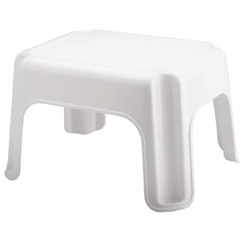 "Rubbermaid 4200-87 Roughneck 12.5"" Tall Plastic Step Stool - White"