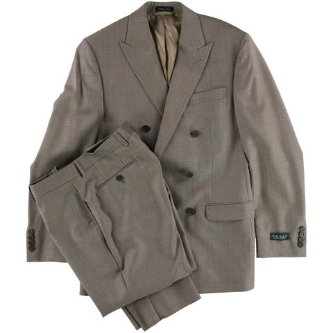 Ralph Lauren Mens Classic Wool Double Breasted Suit - 38 Regular / 32W x 36L