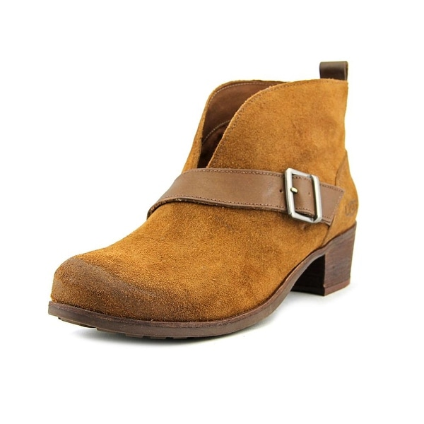 ef22062eddb Shop Ugg Australia Wright Belted Women Round Toe Leather Brown Ankle ...