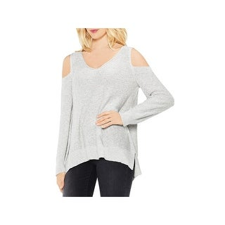 Two by Vince Camuto Womens Pullover Sweater Cold Shoulder V Neck
