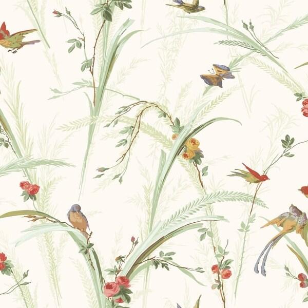 Brewster MEA19321 Cheshire Green Meadowlark Trail Wallpaper - N/A