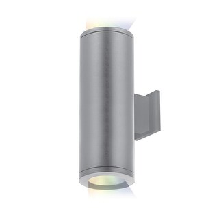 """WAC Lighting DS-WD05-FB-CC Tube Architectural ilumenight 2 Light 12-1/2"""" Tall Integrated LED Outdoor Wall Sconce with Towards"""