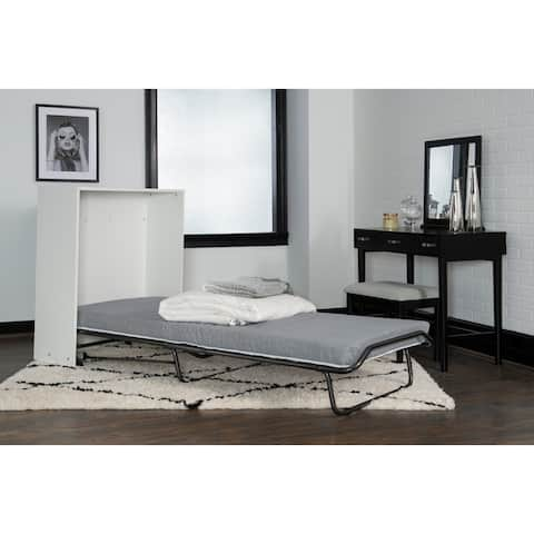 Malus Folding Rollaway Bed with Storage Cabinet and Memory Foam