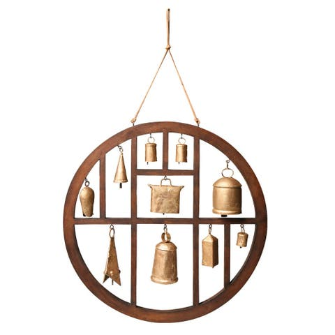 Circle of Bells Indoor/Outdoor Wind Chime Garden Outdoor Decor - 18 in.