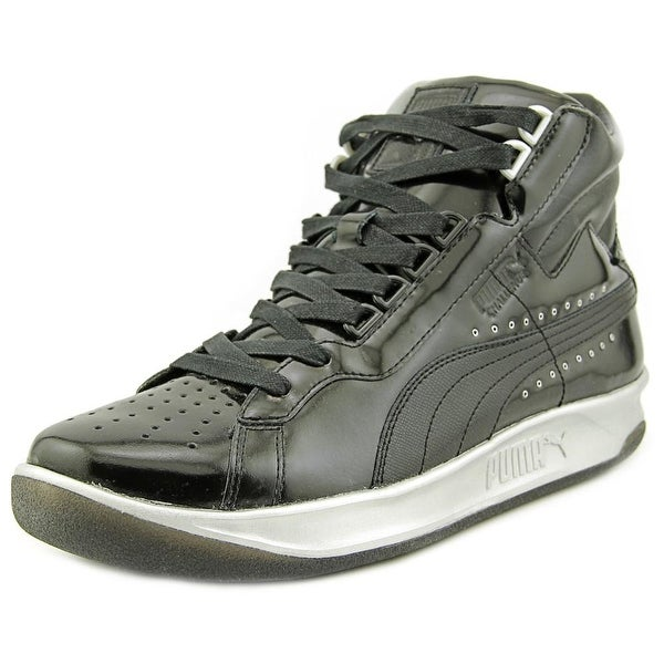 Puma PumaxMeeksxSilver Challenge Round Toe Patent Leather Basketball Shoe