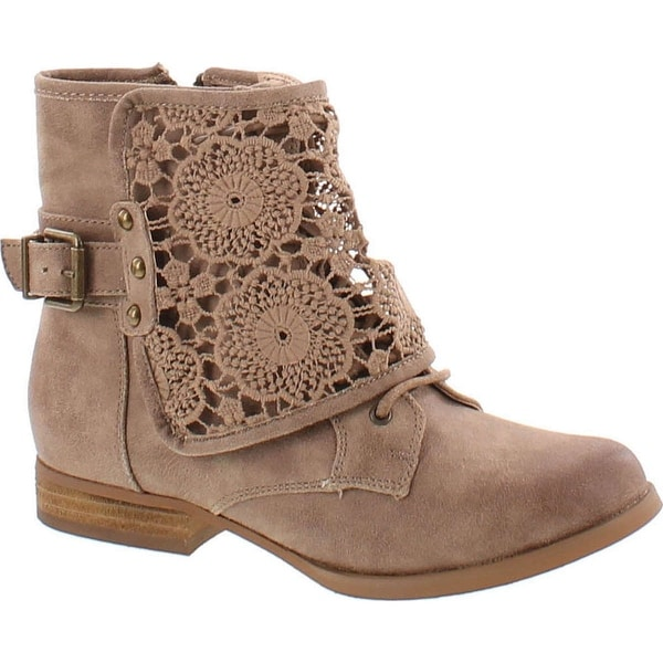 Not Rated Women's Crunchiness Crunchy Crunch Combat Boot