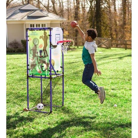 HearthSong 5-in-1 Multi-Sport Indoor/Outdoor Target Game - One-size
