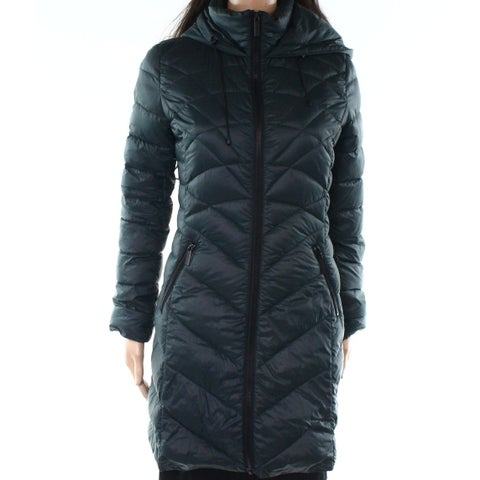 Halogen Green Women's Size XS Hooded Quilted Packable Jacket
