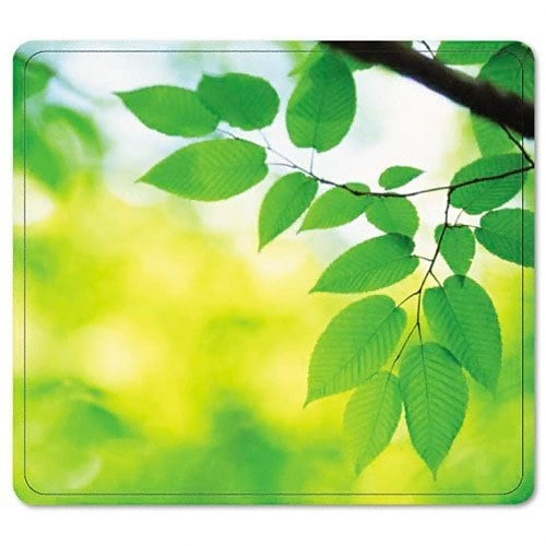 Fellowes, Inc. - Recycled Optical Mousepad - Leaves-Taa