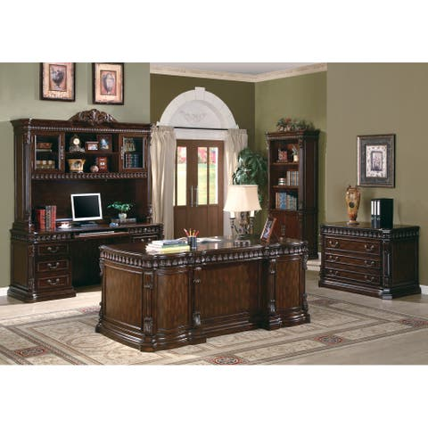 Gracewood Hollow Adeniran 5-drawer Double Pedestal Executive Desk