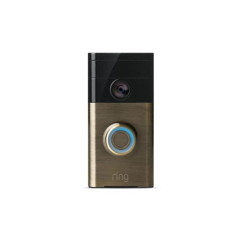 Ring Wi-Fi Enabled Video Doorbell (Antique Brass) 88RG003FC000