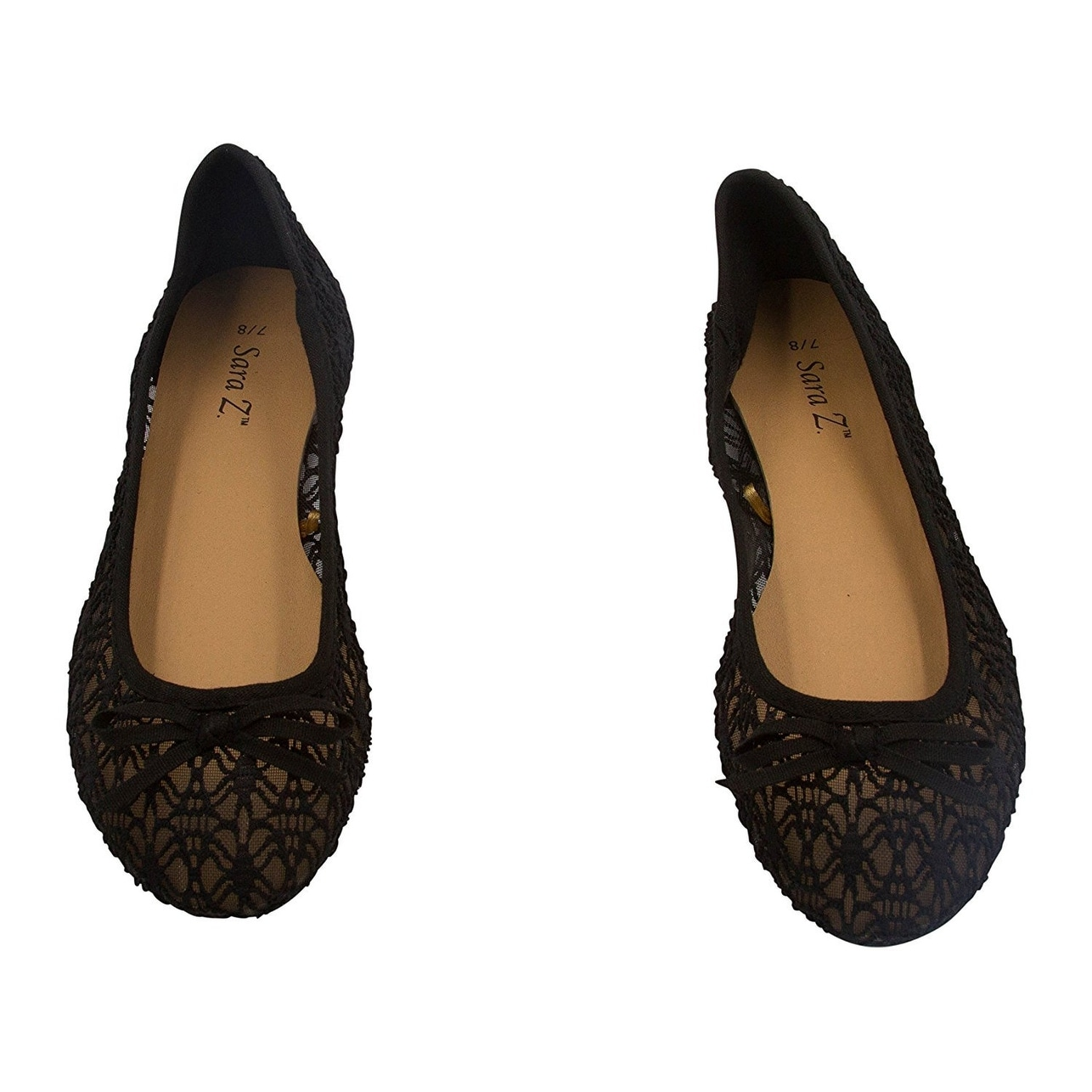 Sara Z Womens Fashion Casual Slip-On Classic Satin Ballet Flat Shoes