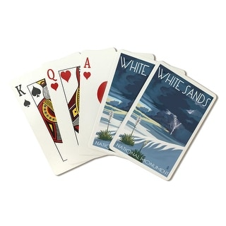 White Sands National Monument, New Mexico - Lightning Storm - Lantern Press Artwork (Poker Playing Cards Deck)