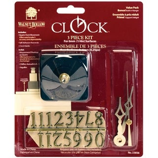 """Clock 3-Piece Kit-For .25"""" Surfaces"""