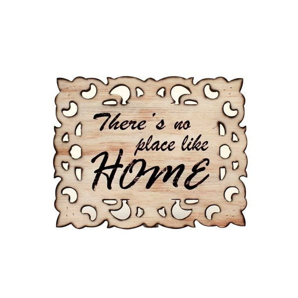 Western Moments Wall Sign Distressed Scroll Border Cutouts Ivory