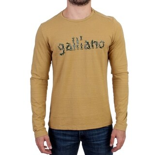 Galliano Yellow crewneck long sleeve t-shirt - XL
